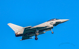 Eurofighter Typhoon at Torbay Air Show.