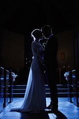 Halla & Haukur (LalliSig) Tags: wedding photographer iceland indoors people portrait portraiture selfosskirkja silhouette selfoss