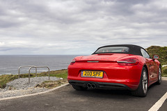 Malin Head Rear (syf22) Tags: car automobile auto autocar automotor motor motorcar motorised porsche porscheclubgb porscheboxster 981s boxster981s red guardsred softtop convertible sportscar germanmade madeingermany mamoregap wildatlanticway eire ireland scenic viewpoint drive route rear back backside tail tailgate ass arse behind