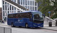 Plymouth Citybus 321, YX14 SFN - a Volvo B11R/Plaxton Panther 3, C49Ft (paulburr73) Tags: plymouth citybus c49ft volvob11r plaxtonpanther plaxton coach 321 yx14sfn coventry halesstreet bus june 2018 logans ballymena logansexecutivetravel devon goahead