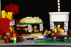 Food Park (Frost Bricks) Tags: lego rollercoaster roller coaster moc classic space theme park fun