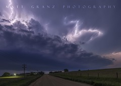 Blasting Away in Nebraska (Matt Granz Photography) Tags: nebraska night darkness road light lightning lightening storm weather sky landscape evening clouds