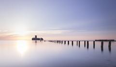 Silence (WaSz-Fotograf) Tags: ifttt 500px sunrise blue sky sea abandoned silence early orange red sun yellow