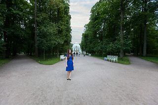 Girl and Hermitage