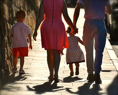 Family Stroll (Edinburgh Photography) Tags: family people man woman children street documentary photojournalism nikon d7000