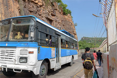 Blessed and to be blessed, Mokala Parvatham (vedanshulad) Tags: pedestrian hill mountains bus blessings hindu temple stock mokala parvatham tirupathi andhra pradesh ap tirumala pilgrim