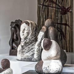 Oeuves de Maryse Pévost DxOFP DSCF1378 (mich53 - thank you for your comments and 5M view) Tags: sculpture artiste art vétheuil maryseprévost raku bronze xf1655mmf28rlmwr xt2 france 2018 exposition valdoise carré