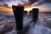 Sunrise at the Old Pilings (Matt Creighton) Tags: carolina beach ocean atlantic sunrise morning seashore seascape sea water sky south nikon d750 tamron tamron1530
