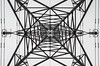 Eye of Power (Sweeting Thorns) Tags: electricity pylon power line electrical metal tower frame framework lattice angle angles insulator steel structure transmission medge hall north lincolnshire national grid