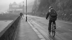Scarborough - Cyclist_2 (Tony McLean) Tags: ©2018tonymclean scarborough streetscenes northyorkshire blackwhite monochrome leicamonochrom leica50summiluxasph