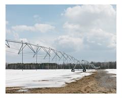 saint-paul (Mériol Lehmann) Tags: vscofilm landscape winter irrigation fields agriculture canada rural quebec snow topographies saintpaul québec ca