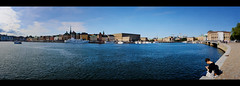 Waterfront Panoramic (Dan Haug) Tags: gamlastan sweden stockholm panoramic incamera border waterfront skyline architecture scandinavia august 2017 summer xt2 xf1655mmf28rlmwr fujifilm xf1655 djurgarden