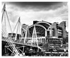 Angles et courbes de la gare de Charing Cross et du pont ferroviaire de Hungerford (philippedechet) Tags: gare architecture londres