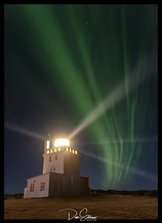 Lighthouse Under the Northern Lights