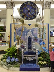 Chicago, Macy's Flower Show, Once Upon Springtime, Throne and Clock (Mary Warren 10.4+ Million Views) Tags: chicago macys flowershow blue chair throne clock child boy nature flora plants blooms blossoms flowers orchids hydrangeas