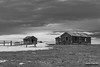 Dilapidated Homestead (kevin-palmer) Tags: custernationalforest montana march spring evening nikond750 tamron2470mmf28 clouds old homestead abandoned house home cabin snow fence backandwhite monochrome