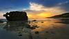 Luces de Bolonia... (protsalke) Tags: colors lights beautiful landscape waterscape atardecer sunset sun clouds sky rocks seascape calm nikon andalucia colores cadiz playa bolonia ocean coast panorama