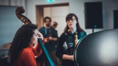 jazzband rocking their rehearsal (Conny Spandl) Tags: jazzband rehearsal bruckneruni probe anton bruckner linz oberösterreich austria victhamin jazz