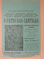"""Panfleto de publicidade ao filme """"Pátio das Cantigas"""" (ACMateus) Tags: antiguidades coleccionismo velharias panfleto publicidade"""