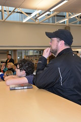 03.29.18 New York Times bestselling author Alan Gratz visits OPL (Omaha Public Library) Tags: omahapubliclibrary miltonrabrahamsbranch author newyorktimes bestseller goldensower alangratz youngadult teen novels books writing readers youth library thebookworm