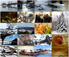 Mars 2018 (evisdotter) Tags: mars2018 collage winter snow tulips rust icicles ice landscape churchtower people painting hen easter