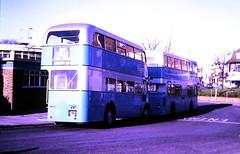 Slide 116-57 (Steve Guess) Tags: aec regent iii rt dms daimler fleetline ensign ensignbus lrt london regional transport essex barking dagenham kyy961 redbridge route145 kjd500p dms500