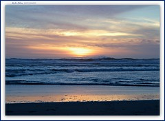 the fading sun... (MEA Images) Tags: sunset sun beach tide ocean pacificocean reflection glimmer nature water waterscape waterscene capedisappointmentcoastbeach capedisappointment washington canon picmonkey waves seascape