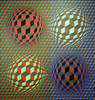 Stri-oet by Vasarely 1979 (Andras, Fulop) Tags: vasarely acryl canvas painting museum exhibition artwork opart nikon p7700
