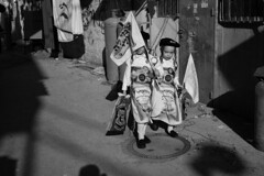 Dressed for Purim (michael.mu) Tags: jerusalem meashearim purim theleicameet leica m240 50mm leicaaposummicronm50mmf2 streetphotography monochrome bw blackandwhite