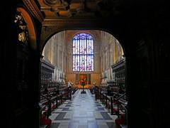 Kings college chapel choir (Matt C68) Tags: cambridge cambridgeuniversity kingscollege chapel choir stalls stainedglasswindow church