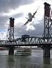 Under & Over (Scott 97006) Tags: bridge plane jet ship river transportation sightseeing