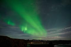 Kirkjufjara_aurora_L1090497 (nocklebeast) Tags: auroraborealis iceland kirkjufjarabeach nrd aurora stars ocean beach vik southcoast