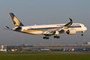 9V-SMU, Airbus A350-941, Singapore Airlines (freekblokzijl) Tags: 9vsmu singaporeairlines amsterdamairport eham ams luchthaven arrival earlymorning sunrise condens changi aalsmeerbaan 36r planespotting vliegtuigspotten airbusa350 a350941 canon eos7d vortex schiphol