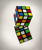 "Puzzle reflection for ""Plastic"" theme (Jack Blackstone) Tags: 2018 em1markii macro mirror plastic macromondays rubikscube geometric bright color shape pattern copyright squares cubes"