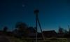 Stork under the stars (free3yourmind) Tags: stork bird nest under stars night sky nightsky village houses nature belarus starry