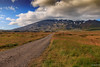 The road to Snæfellsjökull (einisson) Tags: snæfell snæfellsjökull snæfellsnes mountain road iceland ísland outdoor landscape grass clouds canon70d einisson