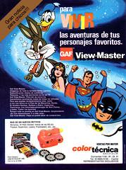 Viewmaster Publicidad (Super Amigo) Tags: viewmaster mattel publicidad advertisement vintage retro argentina colortécnica batman superman bugs bunny donald duck warner bros disney dc comics 3d view master antiguo antigua 80s 70s gaf