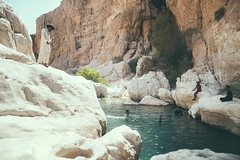 Wadi Bani Khalid (Paulina Wierzgacz) Tags: wadi wadibanikhalid oman banikhalid wadis ued pool sun swimming swimmingpool swim landscape lake lagoon travel traveller trip travelling tourist turquise nature natural palm paradise relax chillout chill mountains view valley visitors wanderlust wild waterfall walk water river underwater cave rocks falaj