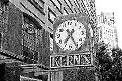 The Kern's Clock (ComradePhoto) Tags: kerns clock canonrebelt6 hdr blackwhite streetphotography detroit