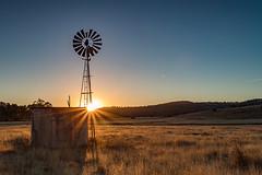A fresh start. (Kent Wilkins) Tags: sunrise southeast queensland australia landscape rural windmill frost winter cold