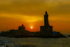Sunrise (Balaji Photography') Tags: sunny sun sunlight sunbeam sunrise silhouette statue monuments vivekananda india thiruvalluvar thirukural tamil dawn picturesque