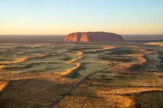 Dawn approach to Uluru (Ayer's Rock) (markgreensabroad) Tags: landscape uluru australia dawn sunrise travel light golden rock ayer'srock outback road northern territory