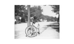 (WOGO*) Tags: graflex super d aero ektar 178 polaroid 665 bw bokeh instantfilm film tricycle expiredfilm analog