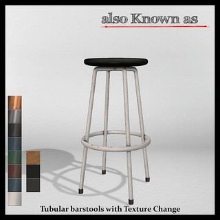 also Known as - Tubular Barstools with Texture Change