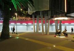 Adelante (Robert Saucier) Tags: mexico mexicocity cdmx arbres trees nuit night noflash peatones img9970