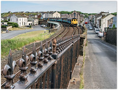 British Railings (Blaydon52C) Tags: harrington cumbria cumbrian coast railway rail railways railings fence locomotive locomotives loco trains train transport whitehaven workington 2c46 37403 drs directrailservices northernrail