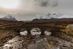 Old Sligachan Bridge over the River Sligachan (sarahOphoto) Tags: 6d black bridge canon capped clouds countryside cuillins gillean hills isle kingdom landscape mountains nan nature old red river scotland sgurr skye sligachan snow stone sun uk united water unitedkingdom gb marsco