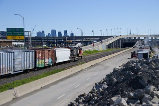 Towards the Turcot interchange