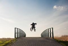 Bunnyhop (Peter Bruijn) Tags: nikon nikond700 d700 digital bmx bmxlife bmxer bmxers bmxbike bmxing bmxrider bunnyhop trick tricks hop bridge netherlands 50mm 50mm14 full frame fullframe action sports