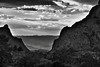 Sunset in the Chisos Mountains (Black & White, Big Bend National Park) (thor_mark ) Tags: bigbendnationalpark bigbendranges blackwhite blueskieswithclouds capturenx2edited carterpeak chihuahuandesert chisosbasin chisosmountainlodge chisosmountains christmasmountains cloudsabove cloudsindistance colorefexpro day1 desert desertlandscape desertmountainlandscape desertplantlife hillsideoftrees intermountainwest landscape lookingwest mountains mountainsindistance mountainsoffindistance mountainside nature nearsunset nikond800e outside portfolio project365 silverefexpro2 southwestbasinsandranges sunny sunsetlight sunsettime thewindow transpecostexasranges trees triptobigbendnationalpark usbiospherereserve vernonbaileypeak walkingaroundchisosmountainlodge tx unitedstates